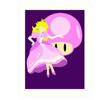 Super Smash Bros Peach Art Print