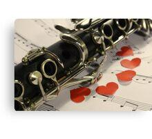 Clarinet Love Canvas Print