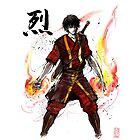 Zuko from Avatar with sumi ink and watercolor by Mycks