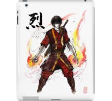 Zuko from Avatar with sumi ink and watercolor iPad Case/Skin