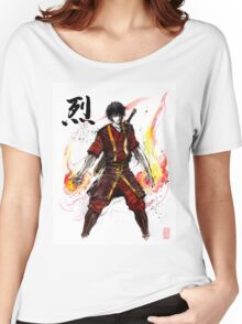 Zuko from Avatar with sumi ink and watercolor Women's Relaxed Fit T-Shirt