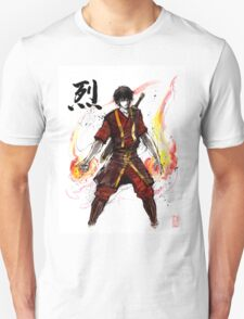 Zuko from Avatar with sumi ink and watercolor T-Shirt