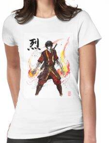 Zuko from Avatar with sumi ink and watercolor Womens Fitted T-Shirt