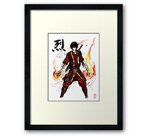 Zuko from Avatar with sumi ink and watercolor Framed Print