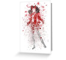 Scarlet Witch Splatter Graphic Greeting Card