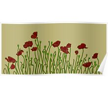 ANZAC Poppies Poster