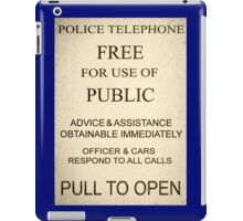 Police Box Sign iPad Case/Skin