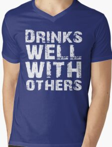Drinks well with others Mens V-Neck T-Shirt