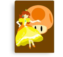 Super Smash Bros Peach (Daisy Alternative) Canvas Print