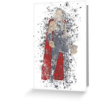 Thor Splatter Graphic Greeting Card