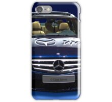 Mercedes C Class saloon blue metallic iPhone Case/Skin