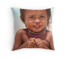 Beach Smile Throw Pillow