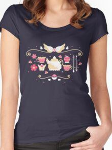 Fairy Tea Time Women's Fitted Scoop T-Shirt