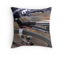 Mountain Bike Blurr Throw Pillow