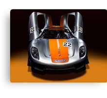 Porsche silver silver colour race car Canvas Print
