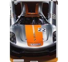 Porsche silver silver colour race car iPad Case/Skin