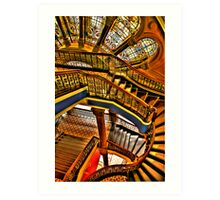 Old Style Workmanship - The Grand Staircase, Queen Victoria Building - The HDR Experience Art Print