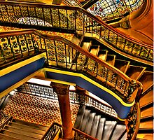 Old Style Workmanship - The Grand Staircase, Queen Victoria Building - The HDR Experience by Philip Johnson