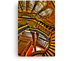 Old Style Workmanship - The Grand Staircase, Queen Victoria Building - The HDR Experience Canvas Print