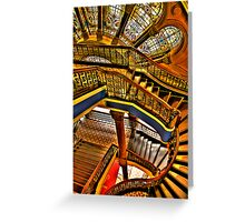 Old Style Workmanship - The Grand Staircase, Queen Victoria Building - The HDR Experience Greeting Card