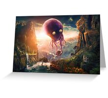 Octopus Riders Greeting Card