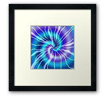 Blue Tie Dye Framed Print