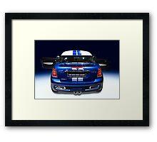 mini coupe blue colour Framed Print