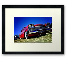 Retro red Plymouth Framed Print