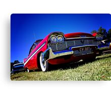 Retro red Plymouth Canvas Print