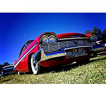 Retro red Plymouth Photographic Print