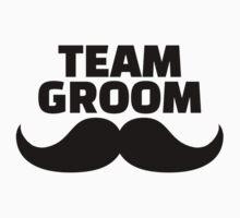 Team groom mustache Baby Tee