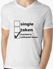 Single, Taken, Married to Nathaniel Mens V-Neck T-Shirt