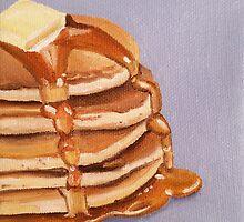 Buttermilk Pancakes Painting by Lagoldberg28