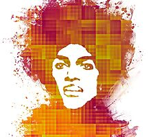 Prince Rogers Nelson - When Doves Cry orange by JBJart