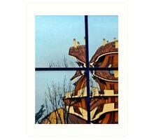 architectural distortion Art Print