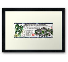 Soba with Fiddleheads and Horsetails Framed Print
