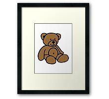 Cute teddy bear Framed Print