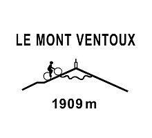 Mont Ventoux Cycling Road Sign Shirt by movieshirtguy