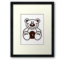 Happy teddy bear Framed Print