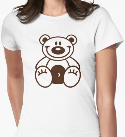 Happy teddy bear Womens Fitted T-Shirt