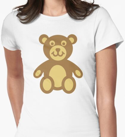 Teddy bear Womens Fitted T-Shirt