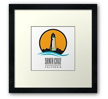 Santa Cruz California Lighthouse Framed Print