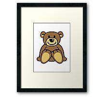 Cuddly teddy bear Framed Print