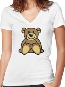 Cuddly teddy bear Women's Fitted V-Neck T-Shirt