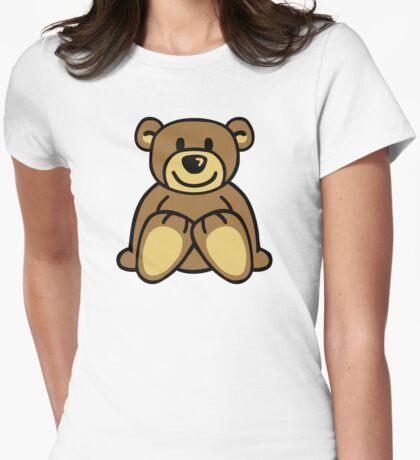 Cuddly teddy bear Womens Fitted T-Shirt
