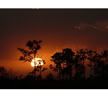 Sunset over The Grassy Plains Photographic Print