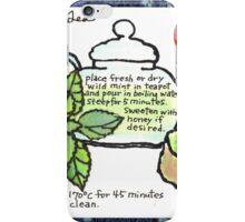Mugwort Cake and Wild Mint Tea iPhone Case/Skin