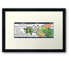 Mugwort Cake and Wild Mint Tea Framed Print