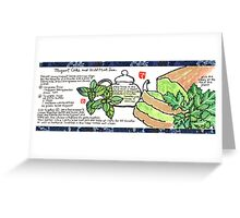 Mugwort Cake and Wild Mint Tea Greeting Card