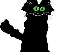 Jack the Fuzzy Black Cat by JohnsCatzz